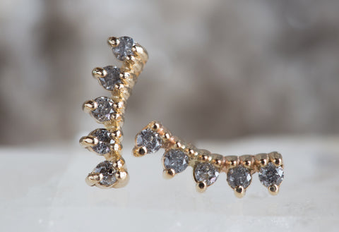 Diamond Sunburst Ear Climbers