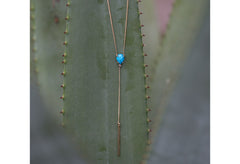 Turquoise Diamond Lariat Necklace