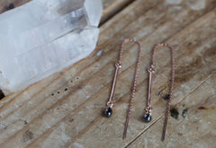 Diamond Bar Thread Earrings