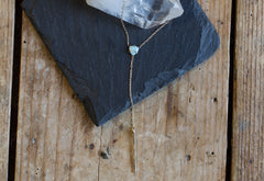 Opal Trillion Lariat Necklace