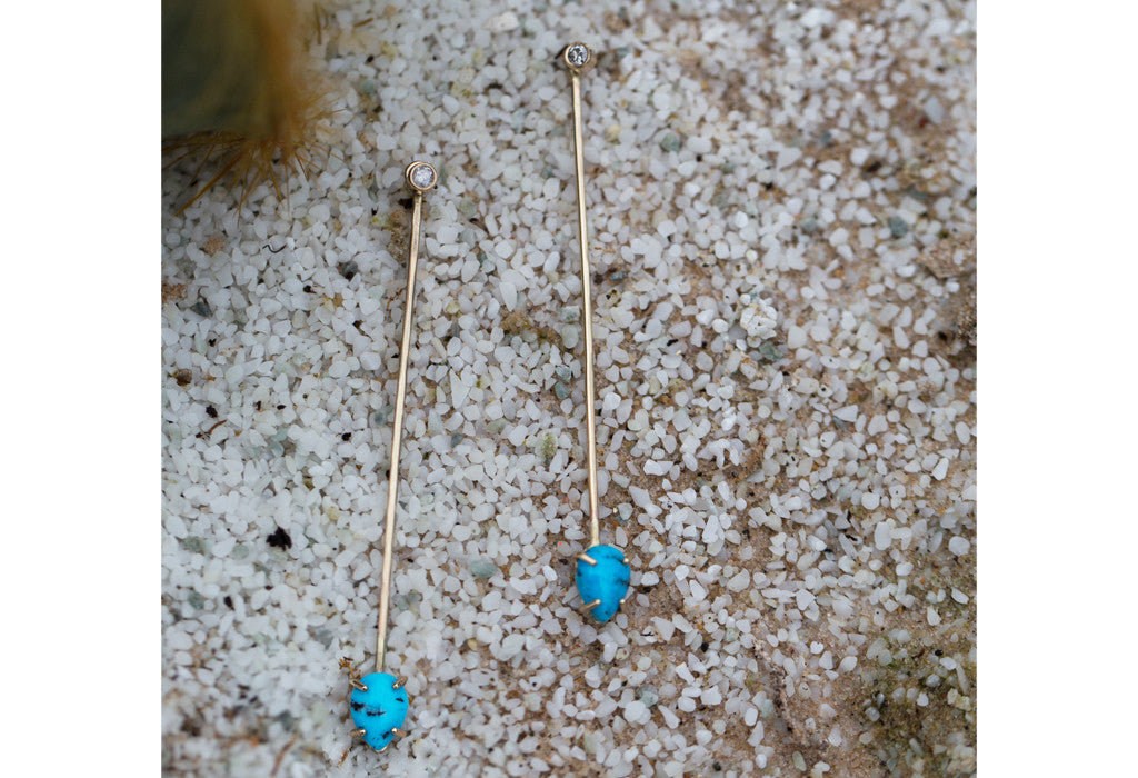 Turquoise + Diamond Long Ear Jackets