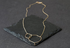 Organic Champagne Diamond Necklace