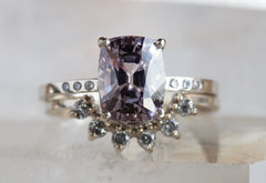 One of a Kind Lavender Spinel Engagement Ring