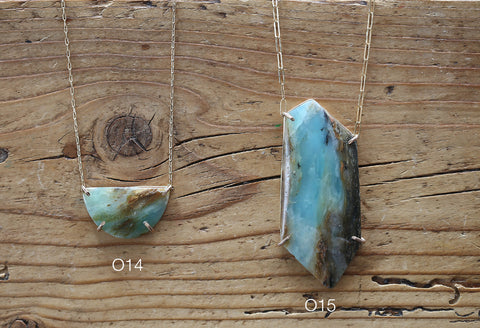 Raw Peruvian Opal Necklace