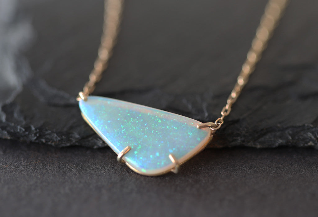Natural opal necklace alexis russell natural opal necklace aloadofball Choice Image