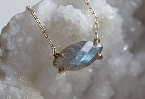 Labradorite Marquis Necklace