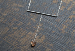 Sunstone Lariat Necklace
