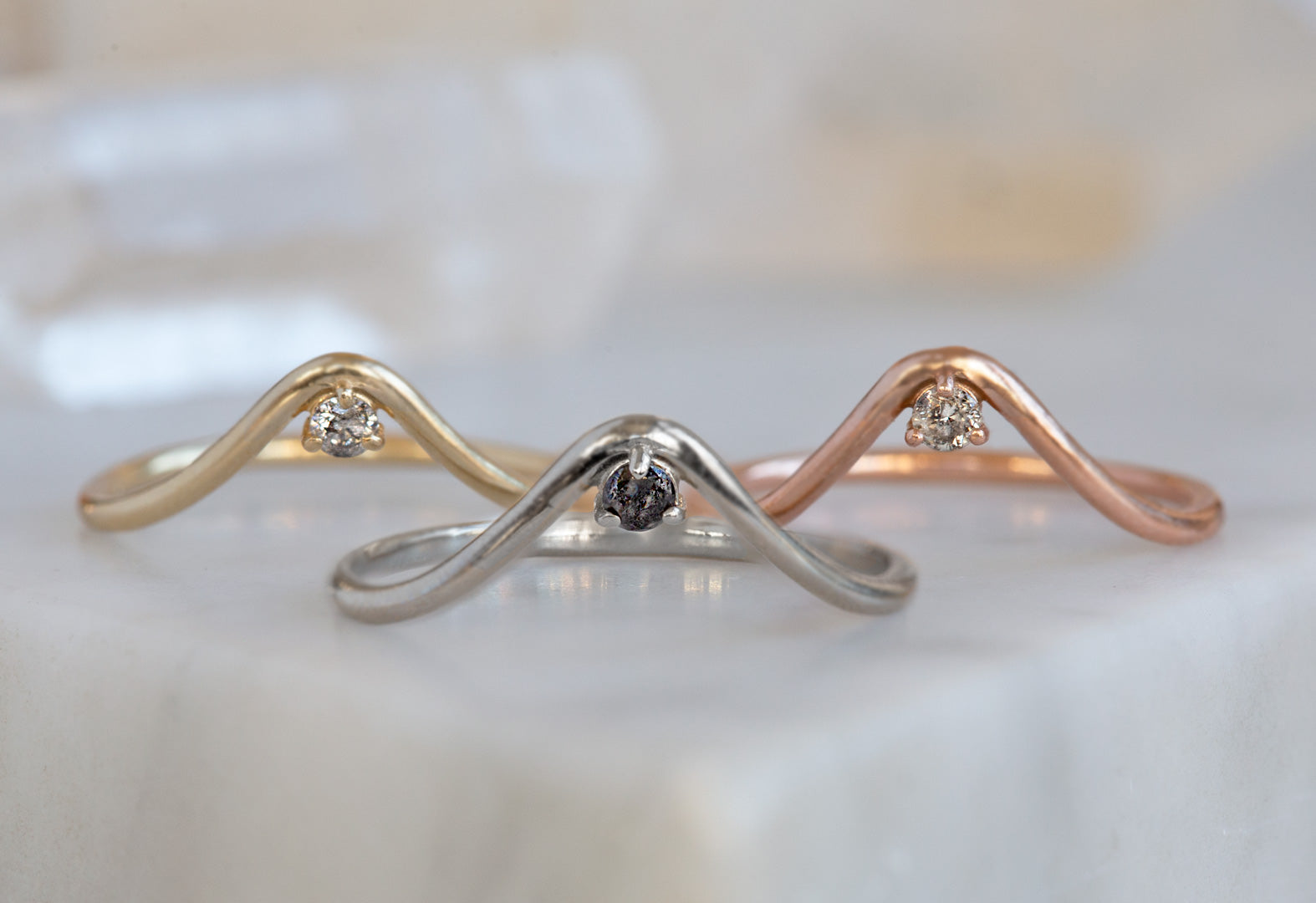 Peak Diamond Stacking Ring