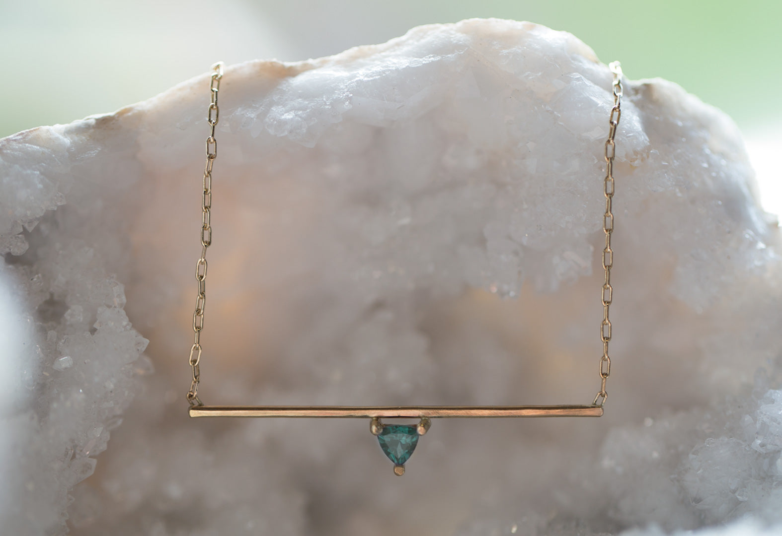 Crown Gemstone Necklace