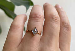 The Bryn Ring with a Kite-Shaped Salt + Pepper Diamond