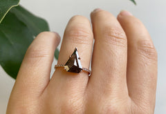 The Willow Ring with a Shield Cut Black Diamond