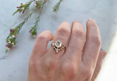 One of a Kind Step-Cut Hexagon Diamond Solitaire Engagement Ring
