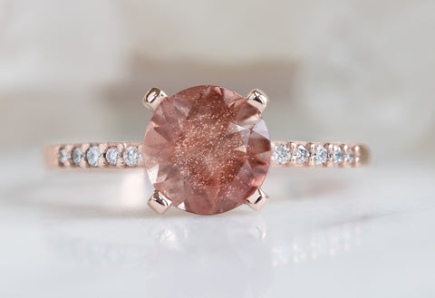 The Willow Ring with a Round-Cut Sunstone