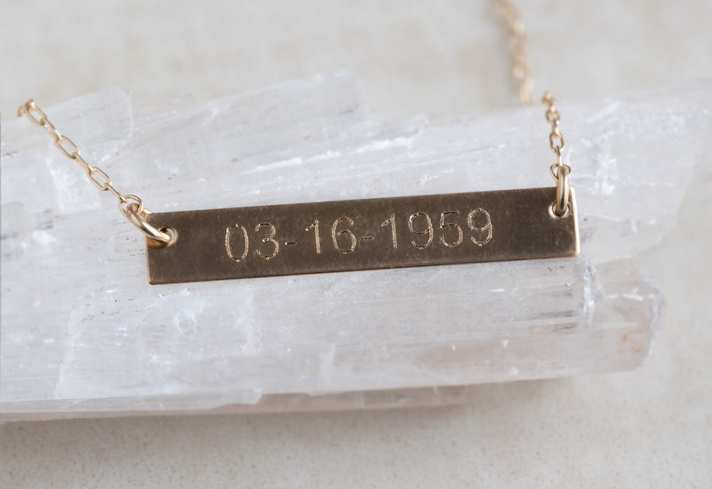 Save the Date / Nameplate Necklace