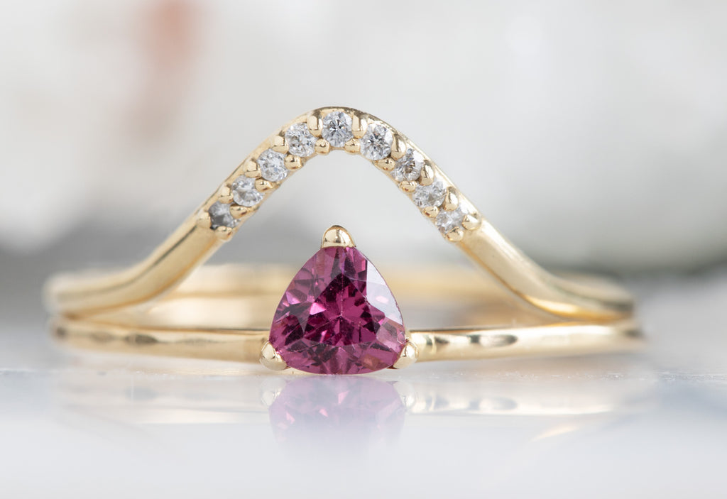 Pink Garnet Crown Ring