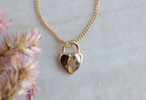 Personalized Heart Lock Necklace