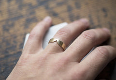 Mens Custom 14kt Gold Cut-Out Ring