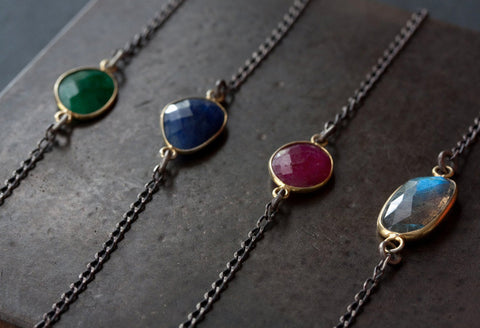 Asymmetrical Gemstone Necklace