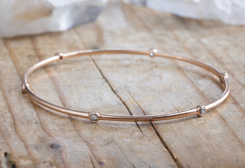 Salt & Pepper Diamond Constellation Bangle