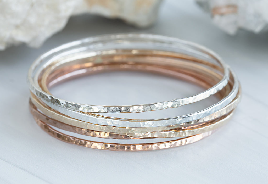 Hammered Stacking Bangle