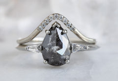 The Ash Ring with a Black Rose-Cut Diamond