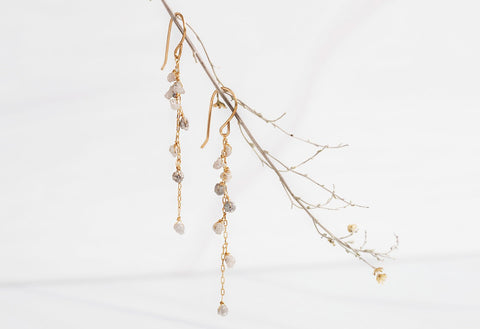 Rough Diamond Cascade Earrings