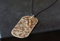 Champagne Diamond Dog Tag Necklace
