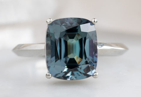 The Bryn Ring with a Cushion-Cut Tanzanite