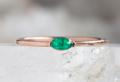 Teensy Emerald Ring