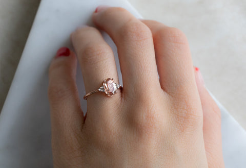 The Ivy Ring with an Oval-Cut Sunstone