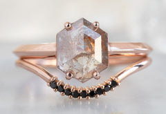 The Bryn Ring with a Pink Hexagon-Cut Diamond