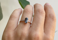 The Willow Ring with a Blue Sapphire