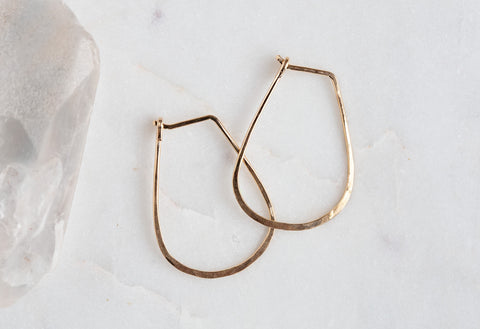 Small Horseshoe Hoop Earrings