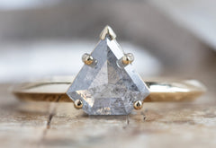 The Sage Ring with an Icy White Shield Cut Diamond