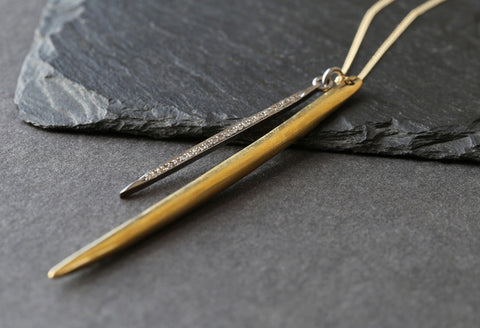 Long Double Spike Necklace