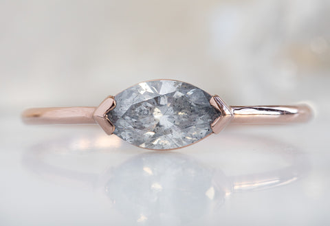 The Sage Ring with a Salt & Pepper Marquise-Cut Diamond