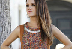 Mesh and Metal Earrings - As seen on Rachel Bilson