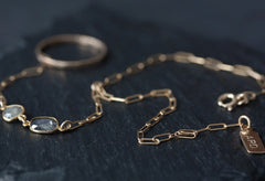 Natural Diamond Slice Hand-Chain