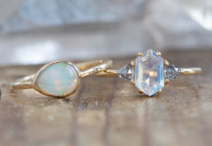 Design Your Own Moonstone / Opal Engagement Ring