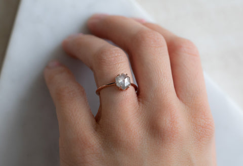 The Bryn Ring with an Opalescent Hexagon Diamond