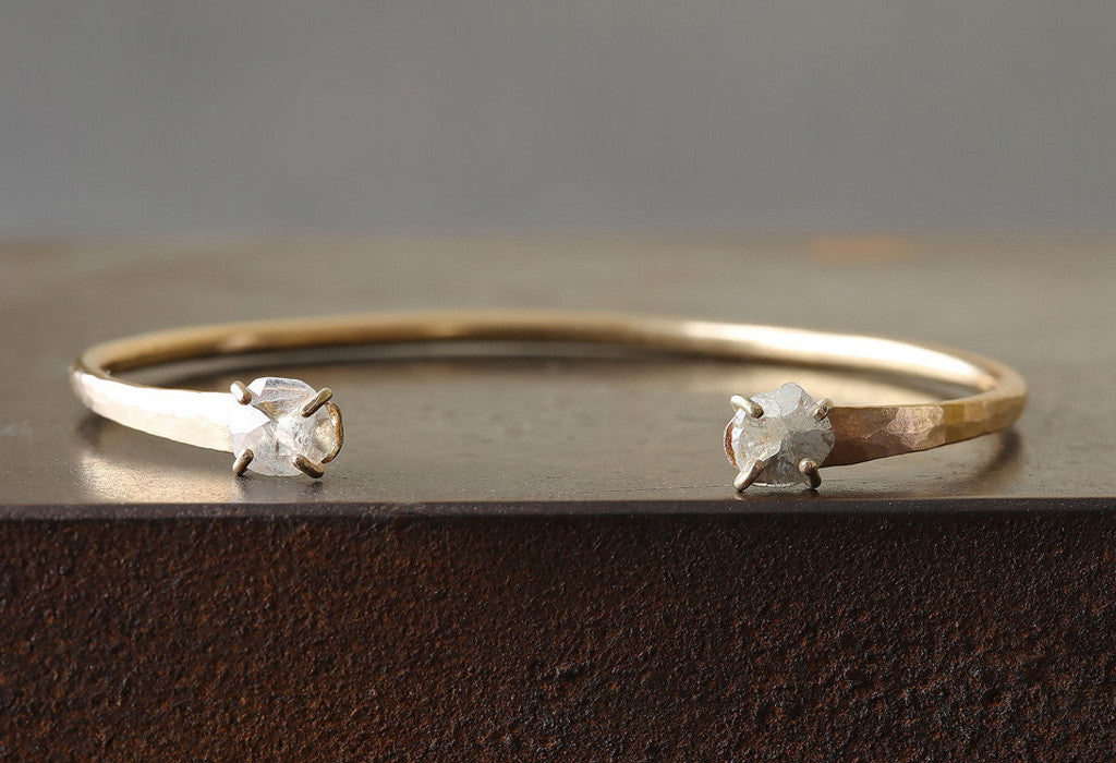 Open Cuff Rose-Cut Diamond Bracelet