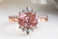 The Lotus Ring with an Oval-Cut Sunstone