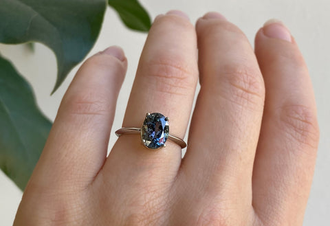 The Bryn Ring with a Oval-Cut Tanzanite