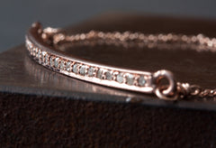 Pave Diamond Ellipse Bracelet
