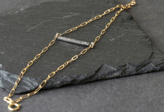 Pave Diamond Bar Bracelet