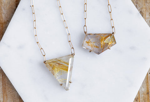 Custom Rutilated Quartz Necklace