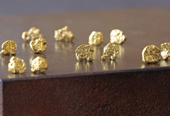 Raw Gold Nugget Stud Earrings