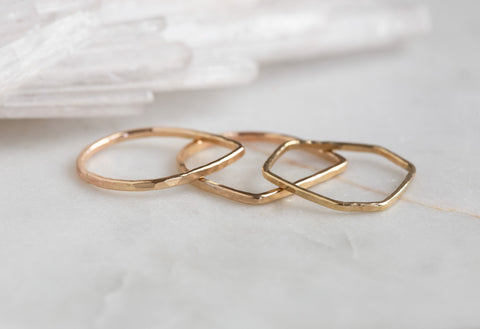 Geometric Stacking Ring Set