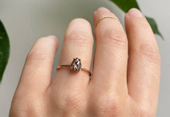 The Bryn Ring with a Salt & Pepper Rose-Cut Diamond