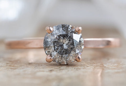 Design A Custom Round Salt and Pepper Diamond Engagement Ring